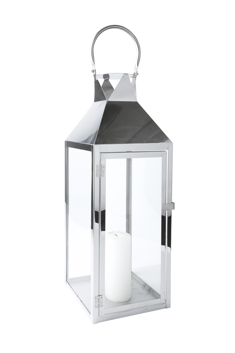 Tür metall  Laterne Edelstahl Glas mit Tür Metall Windlicht Gartenlaterne ...