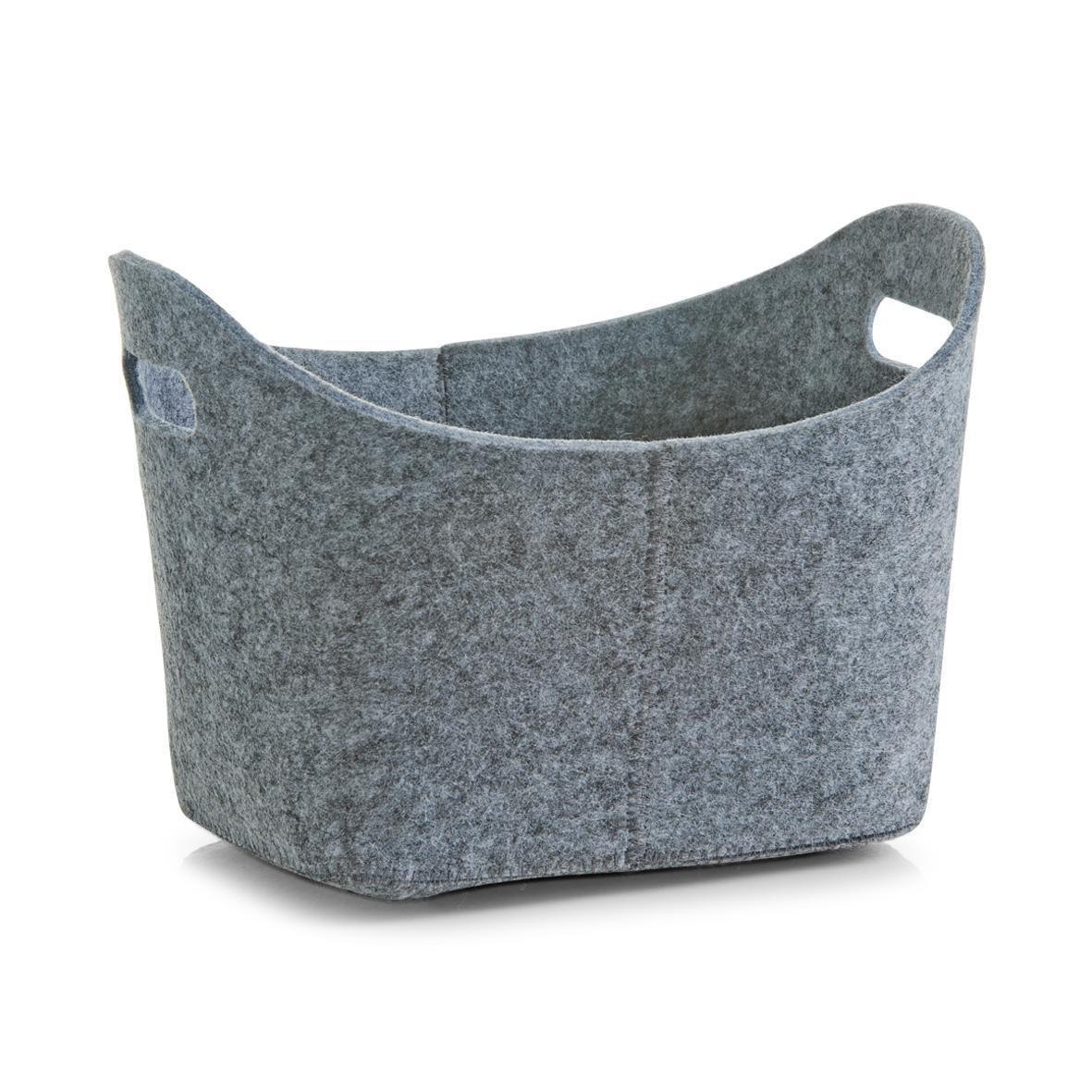 Korb-Filz-Filzkorb-Aufbewahrungsbox-Holzkorb-Zeitungskorb-Filztasche