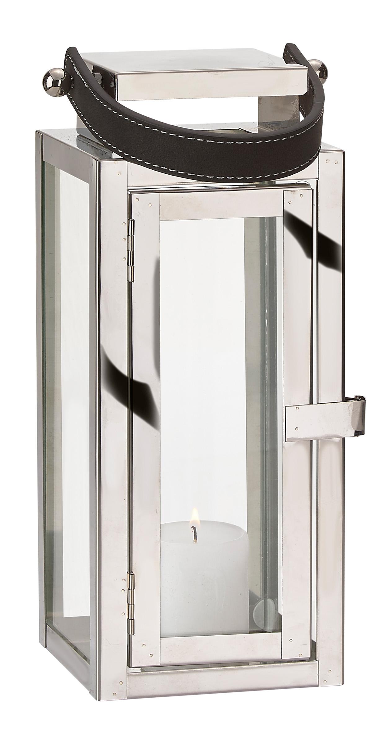 Tür metall  Laterne Edelstahl Glas mit Griff Tür Metall Windlicht ...