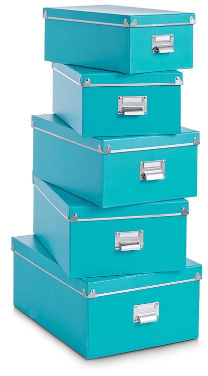 5tlg set aufbewahrungskiste mit deckel kiste box karton. Black Bedroom Furniture Sets. Home Design Ideas