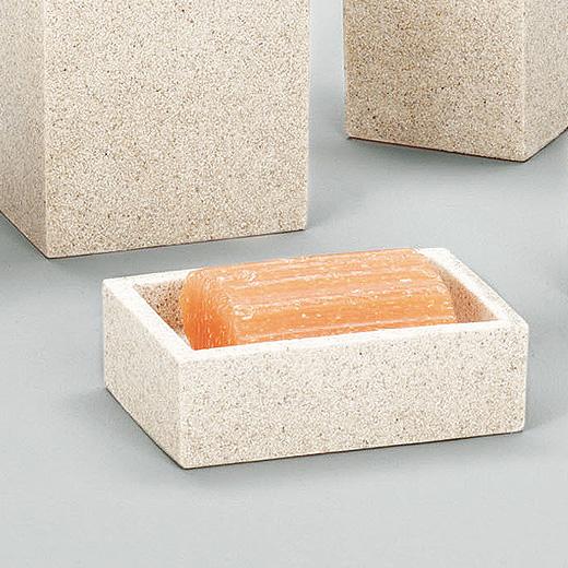 Design Bad Set Stein Optik Badezimmer WC Bürste Becher Seifenschale ...