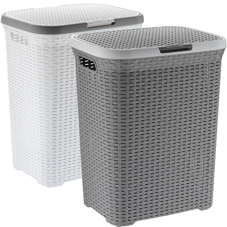 Kela Wäschebox RIO mit Deckel Kunststoff Wäschesammler Wäschetonne Wäschesack eBay ~ 02051540_Wäschekorb Weide Eckig Mit Deckel