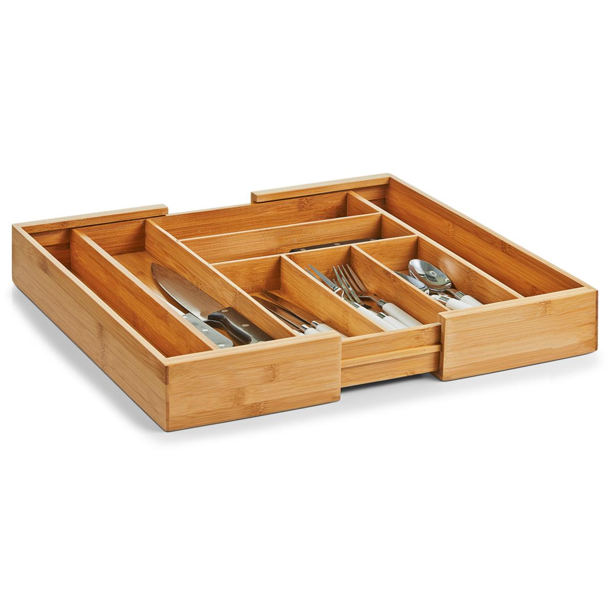 besteckkasten ausziehbar 40 50 60 bambus holz besteck einsatz schublade ebay. Black Bedroom Furniture Sets. Home Design Ideas