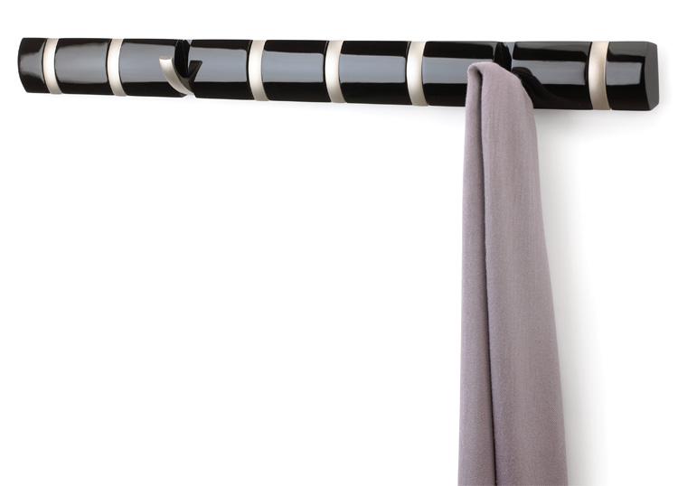 umbra hakenleiste flip hook design garderobenleiste mit klapphaken haken leiste ebay. Black Bedroom Furniture Sets. Home Design Ideas