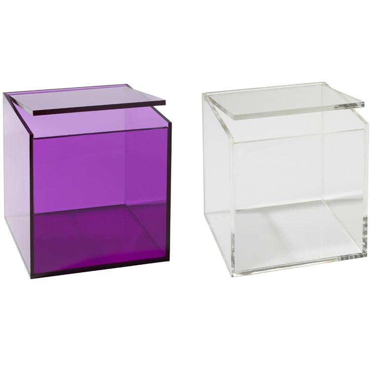 aufbewahrungsbox mit deckel acryl box allzweckbox utensilienhalter utensilien ebay. Black Bedroom Furniture Sets. Home Design Ideas