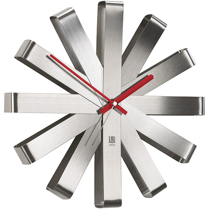 Detalles de 30cm Diseño Reloj de Pared Acero Inox Baño Cocina Estación Tren  Metal