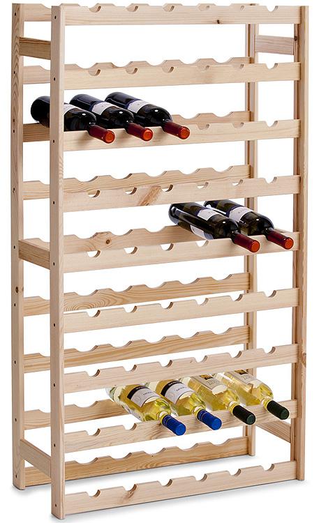 Botellero madera pino para vino soporte botellas de - Estanterias para botellas ...