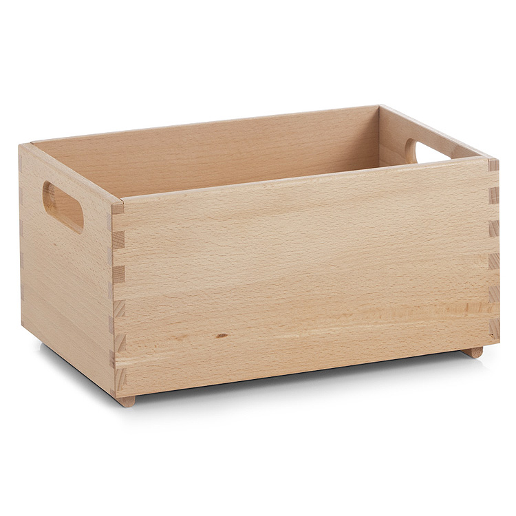 caisse toutes utilisations bois de h tre bo te en bois coffre jouets ebay. Black Bedroom Furniture Sets. Home Design Ideas