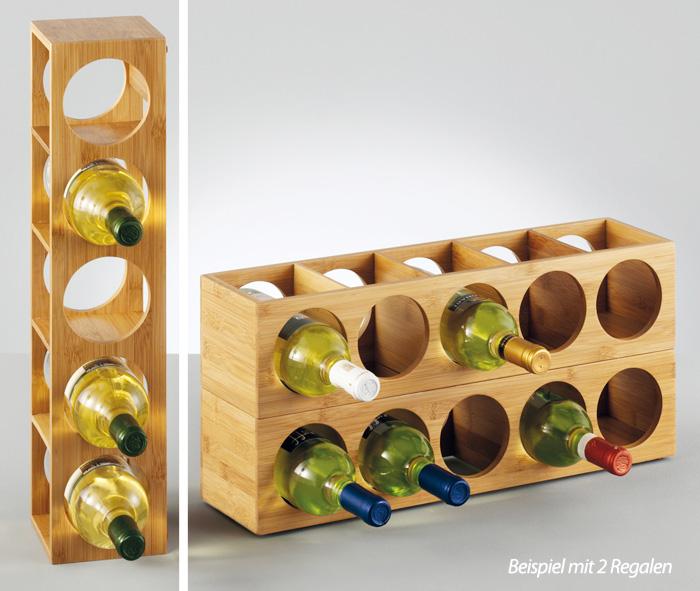weinregal bambus holz stapelbar flaschenregal flaschenhalter wein regal ablage ebay. Black Bedroom Furniture Sets. Home Design Ideas