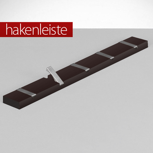 5er hakenleiste garderobenleiste wandgarderobe haken. Black Bedroom Furniture Sets. Home Design Ideas
