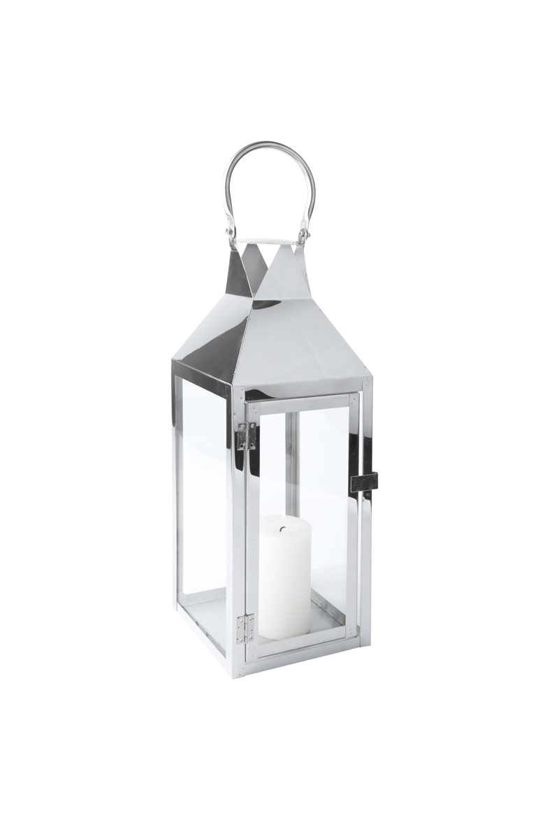 laterne edelstahl glas mit t r metall windlicht gartenlaterne kerzenhalter ebay. Black Bedroom Furniture Sets. Home Design Ideas