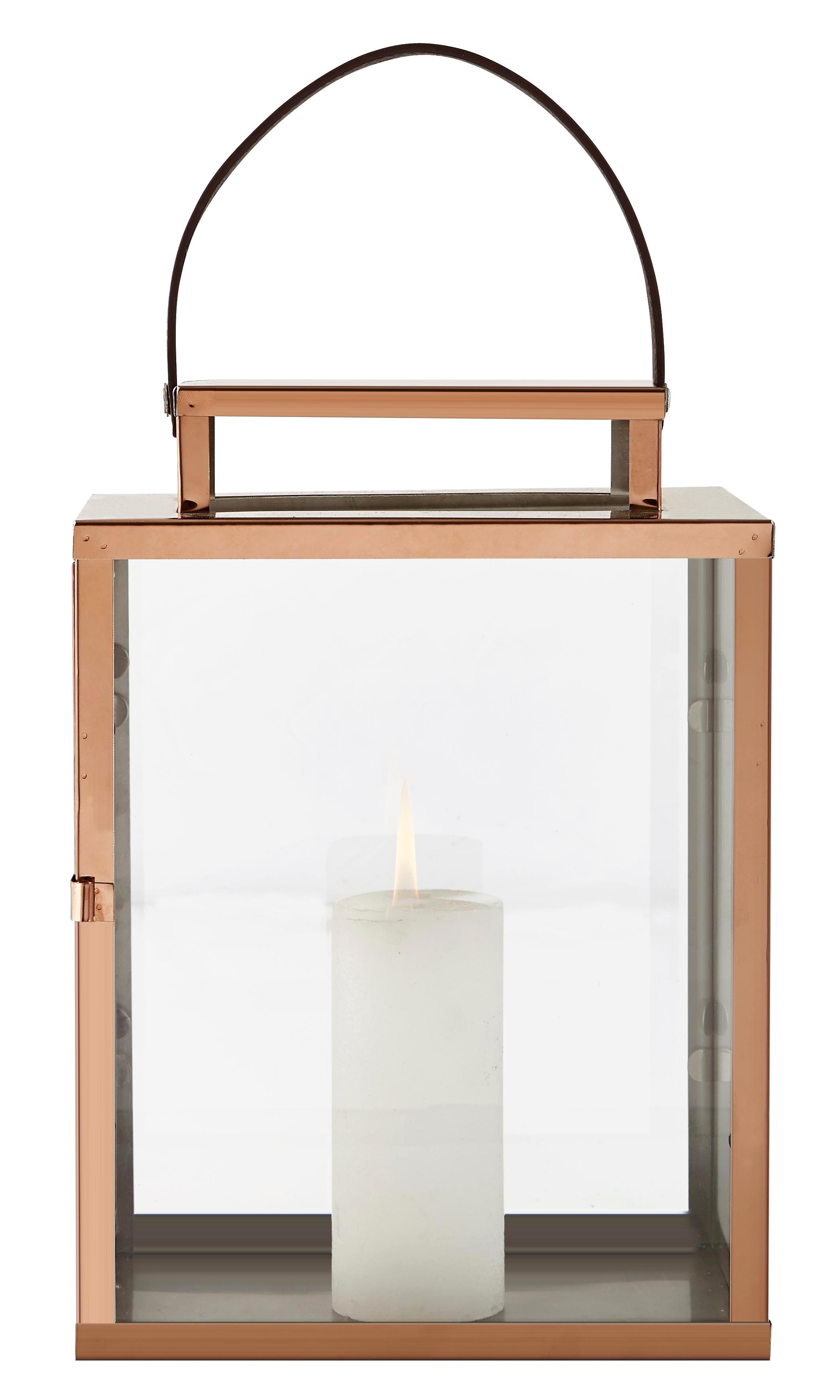 kupfer laterne edelstahl glas mit griff t r metall. Black Bedroom Furniture Sets. Home Design Ideas