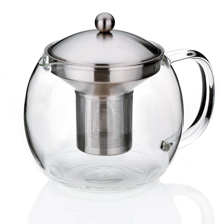 Glas Teekanne teekanne 1 2 liter teebereiter kanne glas edelstahl hochwertig