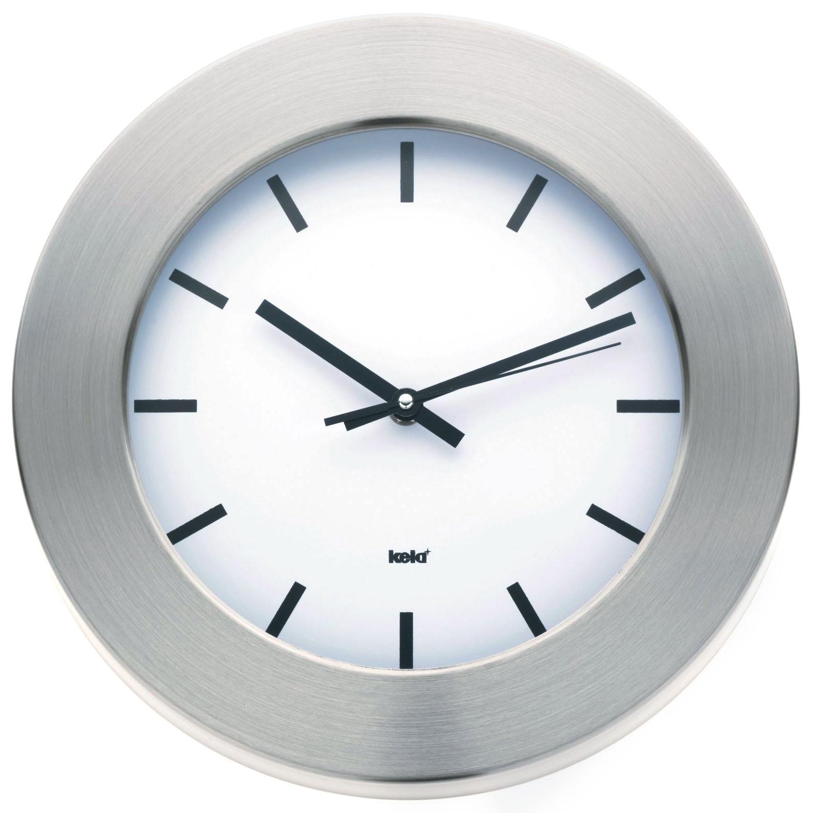 Kela acciaio inox Orologio 30 CM BIANCO DESIGN PARETE BAGNO da ...