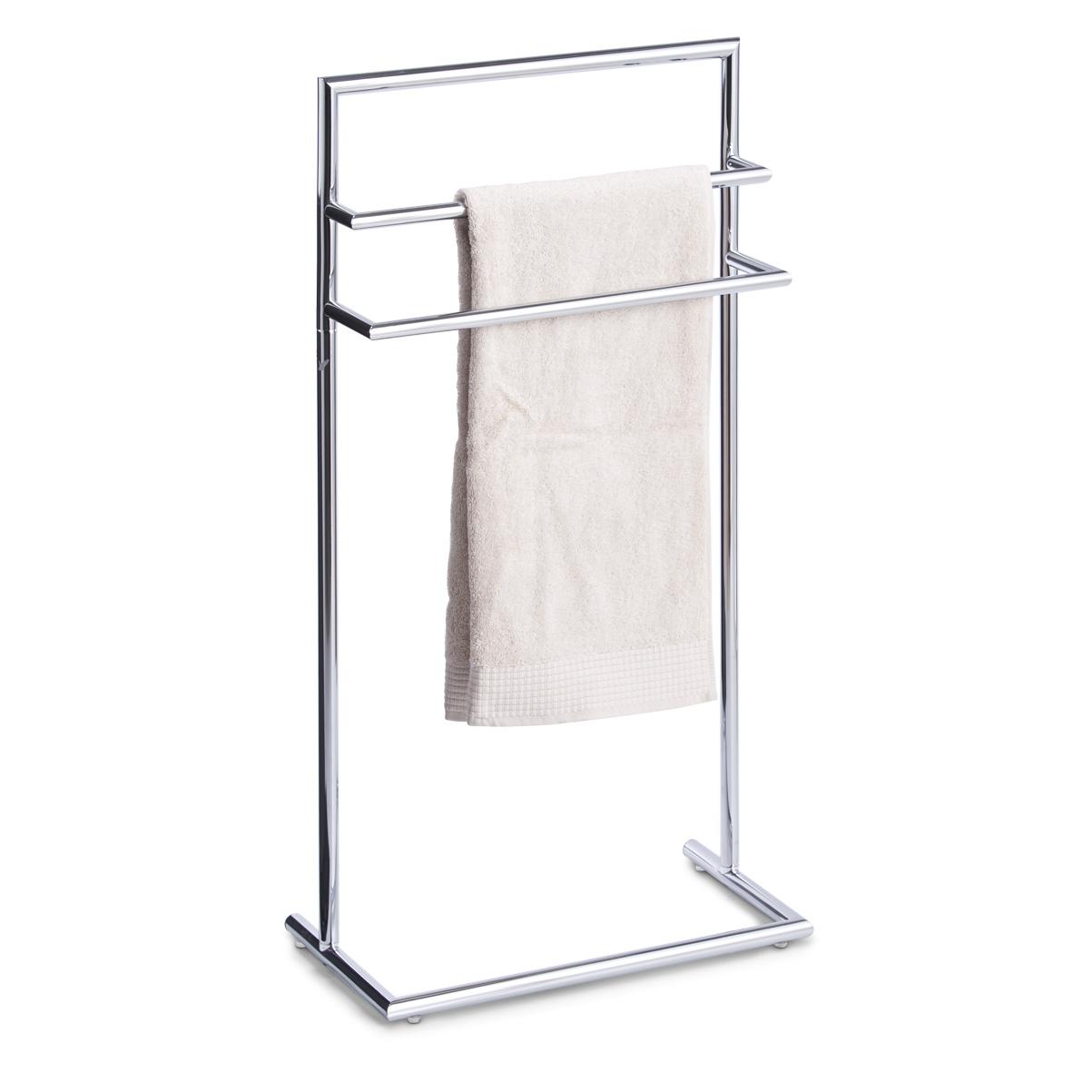 stand handtuchhalter 3 stangen chrom metall standhandtuchhalter handtuchst nder ebay. Black Bedroom Furniture Sets. Home Design Ideas