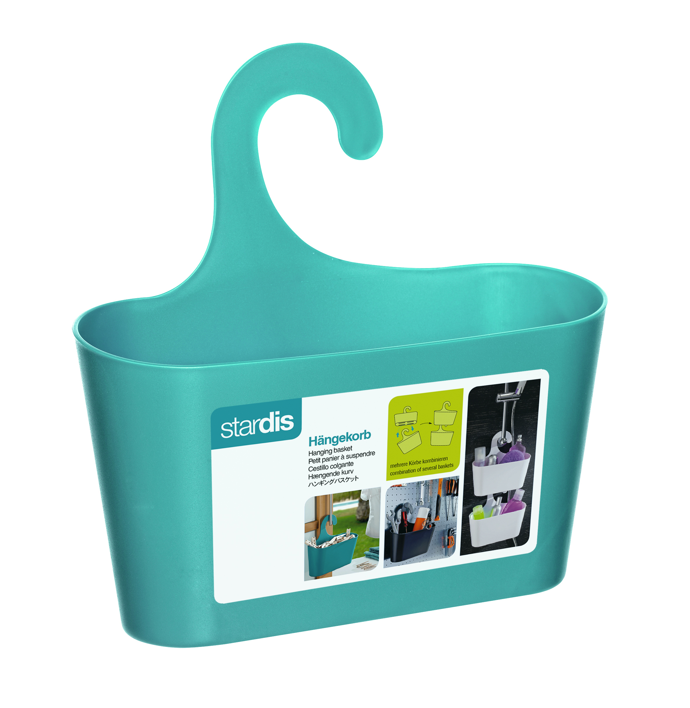 Bath Basket With Hook Bathroom Shelf Shower Utensilo Storage Teal   eBay
