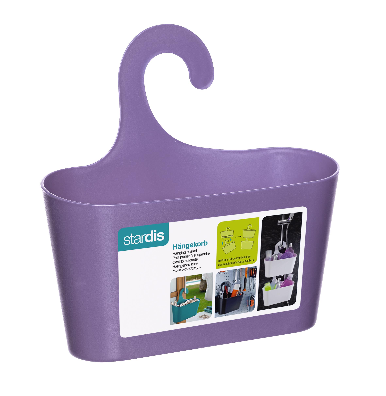 Shower Basket Violett With Hook Hanging Caddy Organizer Plastic | eBay