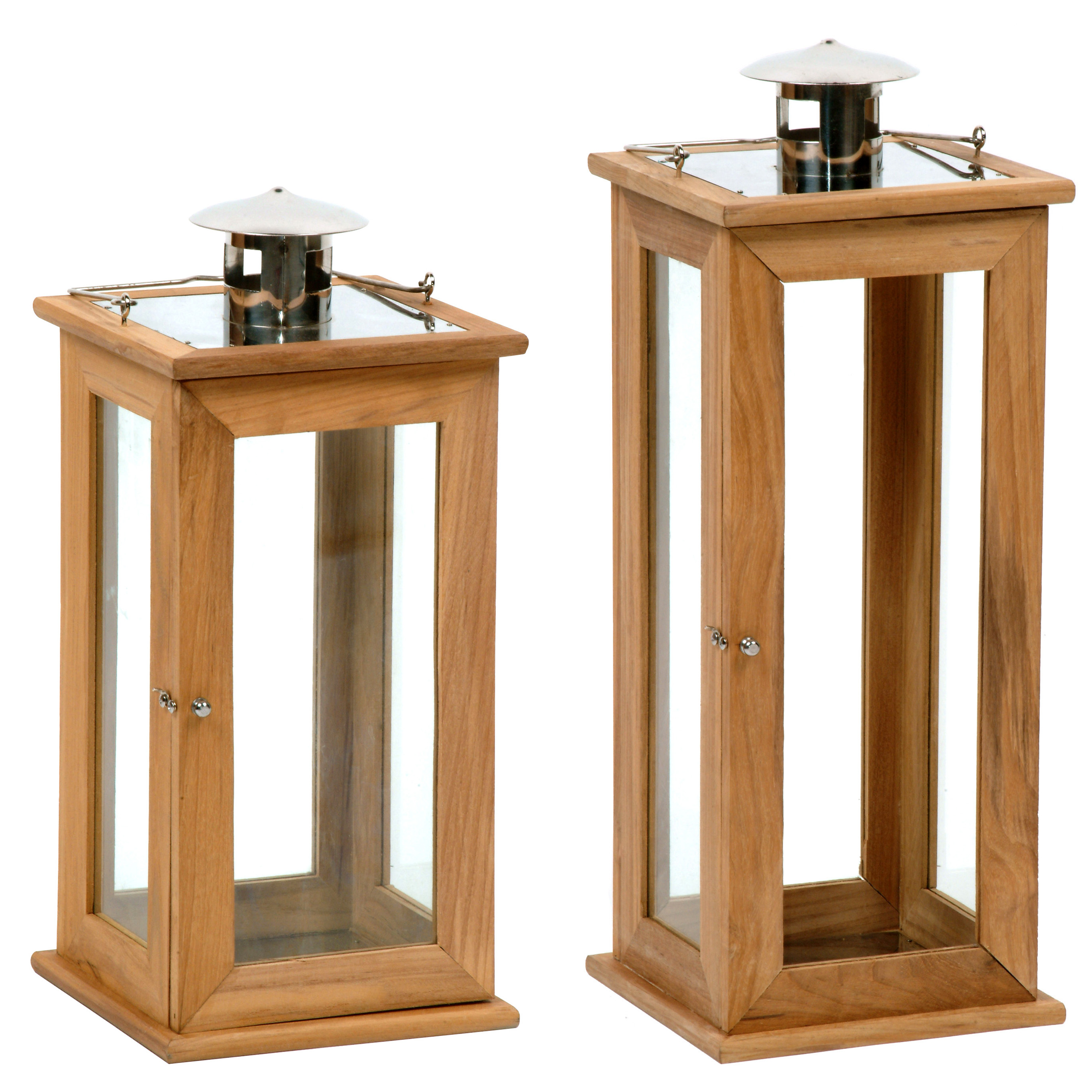 laterne holz glas f r blockkerze griff t r metall windlicht gartenlaterne gro ebay. Black Bedroom Furniture Sets. Home Design Ideas