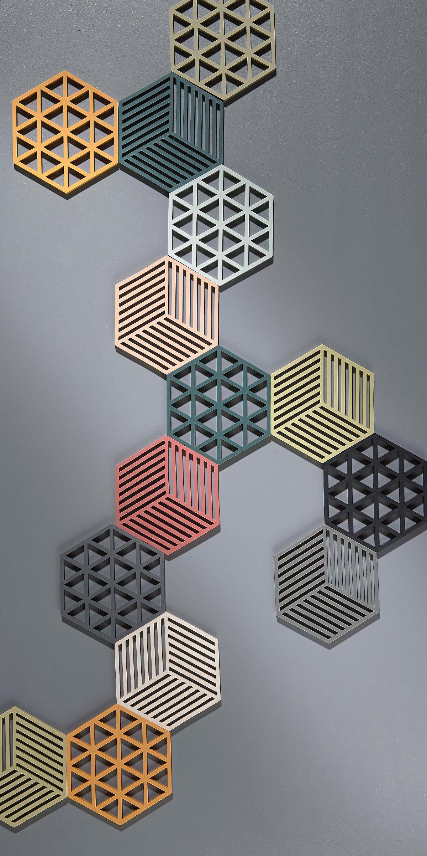 Design Dessous De Plats hexagonale Silicone Dessous De Plat ...